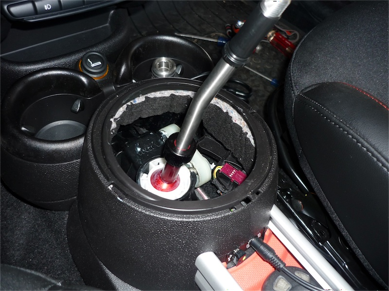 Interlude You Have A Decision To Make When It Comes Putting The White Dust Cover Back On Short Shift Lever Extends Further Than Stock